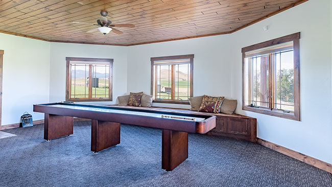 Downstairs Shuffle Board Table Guest House